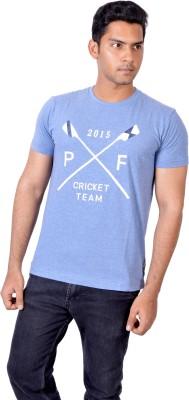 PETROFICIO Solid Men's Round Neck Blue T-Shirt