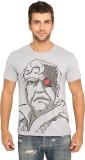 Imagica Printed Men's Round Neck Grey T-...