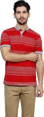 Freak,N by Cotton County Printed Men's Polo Red T-Shirt
