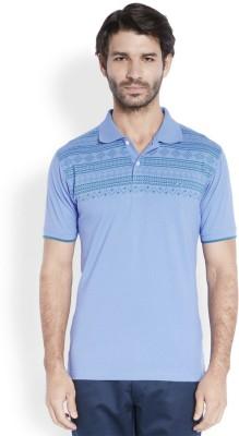 ColorPlus Printed Men's Polo Neck Light Blue T-Shirt