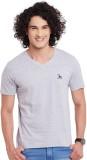 Fast n Fashion Solid Men's V-neck Grey T...