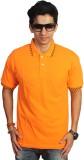 EPG Solid Men's Polo Neck Orange T-Shirt