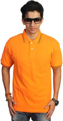 EPG Solid Men's Polo Orange T-Shirt