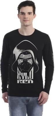 Star Wars Printed Men's Round Neck Black T-Shirt