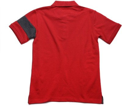 WROGN Solid Boy's Polo Neck Red T-Shirt