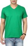 Top Notch Solid Men's V-neck Green T-Shi...