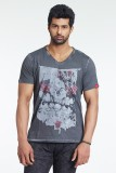 Masculino Latino Printed Men's V-neck Bl...