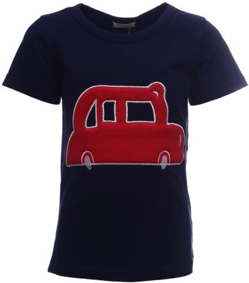 Sheena Printed Girl's Round Neck Black T-Shirt