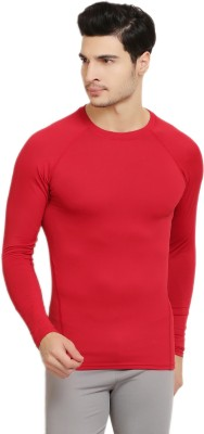 Armr Solid Men's Round Neck Red T-Shirt