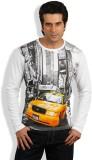 Maya Printed Men's Round Neck T-Shirt