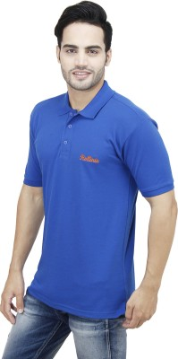 Rollinia Solid Men's Polo Light Blue T-Shirt