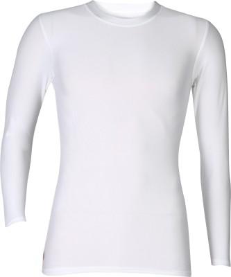 Rovars Solid Men's Round Neck White T-Shirt