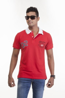 Sting Solid Men's Polo Red T-Shirt