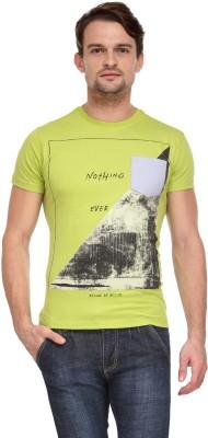 Flippd Graphic Print Men's Round Neck Light Green T-Shirt