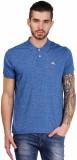 Foldin Solid Men's Polo Neck Blue T-Shir...