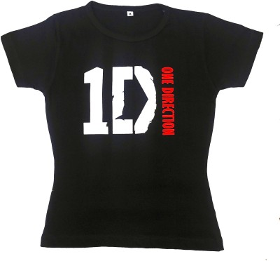 One Direction Graphic Print Girl's Round Neck T-Shirt