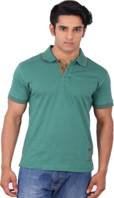 Rat Trap Solid Men's Polo Neck Green T-Shirt