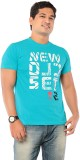 Ebry Printed Men's Round Neck Light Blue...