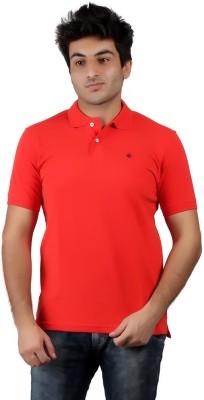 Numero Uno Solid Men's Polo Neck Red T-Shirt