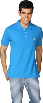 Provogue Solid Men's Polo Light Blue T-Shirt