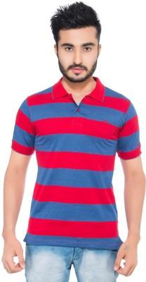 Fabilano Striped Men's Polo Neck Red T-Shirt