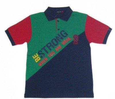Miracle Printed Boy's Polo Neck T-Shirt