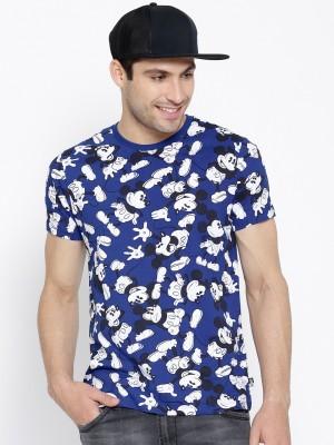 Kook N Keech Disney Graphic Print Men's Round Neck Blue T-Shirt