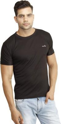 Eprilla Solid Men,s Round Neck Black T-Shirt