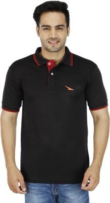 PRO Lapes Solid Men's Polo Neck Black T-Shirt