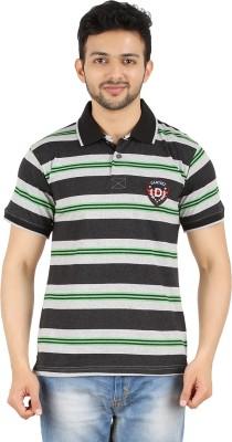 Danteez Striped Men's Polo Green T-Shirt
