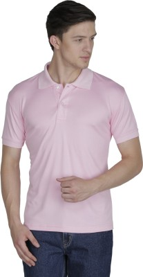 Sass Solid Men's Polo Pink T-Shirt