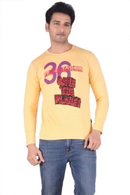 TSG Breeze Printed Men's Fashion Neck Gold T-Shirt