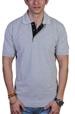 EPG Solid Men's Polo Grey T-Shirt