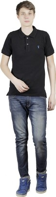 Clive Rogers Solid Men's Polo Black T-Shirt