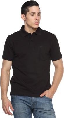 Tempt Solid Men's Polo Neck Black T-Shirt