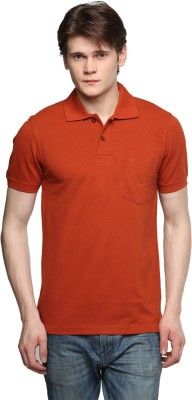 Tempt Solid Men's Polo Neck Red T-Shirt