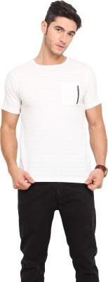 Northern Lights Striped Men's Round Neck T-Shirt