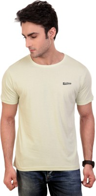 Wineberry Solid Men's Round Neck Light Green T-Shirt