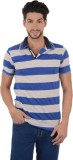 Ahhaaaa Striped Men's Polo Neck Blue, Gr...