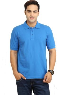 BepoyZ Solid Men's Polo Neck Blue T-Shirt