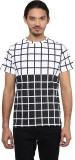 Atorse Printed Men's Round Neck Black, W...