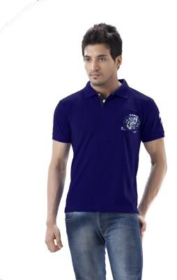 Force Go Wear Solid Men's Polo Neck Dark Blue T-Shirt
