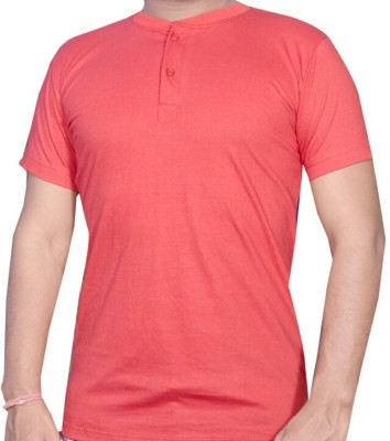VENUS COLLECTION Solid Men,s, Boy's Henley Red T-Shirt
