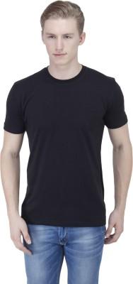 Sass Solid Men's Round Neck Black T-Shirt