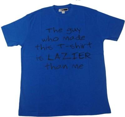 Acetone Solid Men's Round Neck Blue T-Shirt