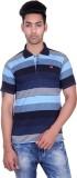 Deutz Striped Men's Polo Neck Dark Blue ...
