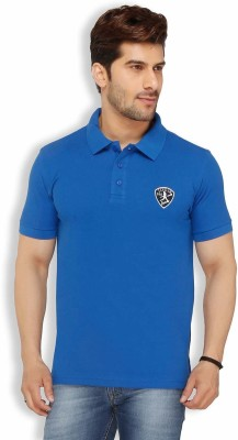 Live In Solid Men's Polo Blue T-Shirt
