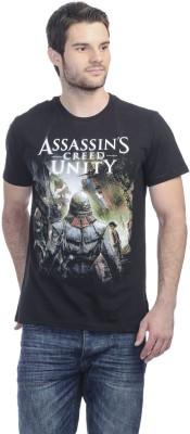 Assassins Creed Printed Men's Round Neck Black T-Shirt