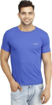 Eprilla Solid Men,s Round Neck Blue T-Shirt