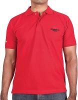 T Shirts (Men's) - Adventureworx Solid Men's Polo Neck Red T-Shirt